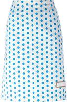 J.W.Anderson polka dot skirt - women - Cotton - 10