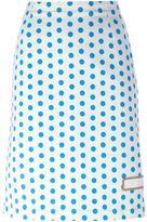 J.W.Anderson polka dot skirt - women - Cotton - 8