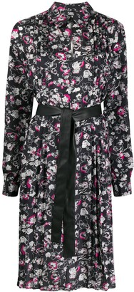 Karl Lagerfeld Paris Orchid Print Dress