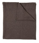 The Well Appointed House 100% Cashmere Ribbed Border Throw in Hazel