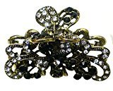 B.ella Metal Jaw Clip Design of Ribbon and Flower in Gold Tone Plating RW86490-4876jet