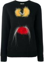 Fendi Bag Bugs sweatshirt - women - Cotton/Fox Fur/Polyamide - 40