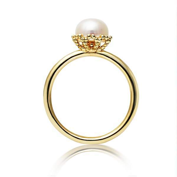 House of Fraser Jersey Pearl Emma kate gold pearl filigree ring