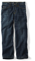 Lands' End Husky Boys Iron Knee Relaxed Fit Jeans-Dark Wash