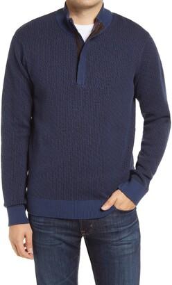 Robert Graham Brennand Quarter Zip Sweater
