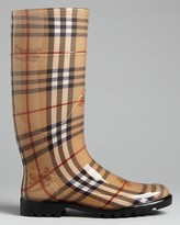 Burberry Rain Boots - Haymarket Check Plaid