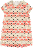 Billieblush Short-Sleeve Sequin & Fringe Dress, Size 4-8