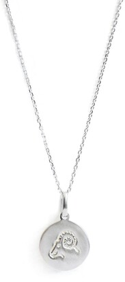 Anzie Sterling Silver Aries Zodiac Pendant Necklace