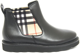 Burberry Vintage Check And Leather Chelsea Boots