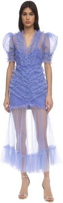 Alice McCall Ruffled Tulle Midi Dress