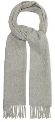 Raey Fringed Wool-blend Scarf - Grey Marl