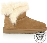 UGG Milla Shearling Ankle Boots- Chestnut