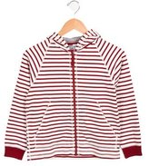 Petit Bateau Girls' Hooded Zip-Up Sweatshirt w/ Tags