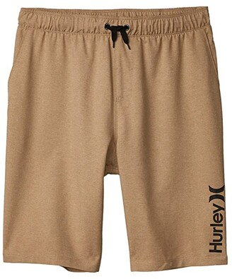Hurley Pull-On Walkshorts (Big Kids) (Khaki) Boy's Shorts