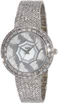Burgi Women's BUR118SS Analog Display Quartz Silver Watch