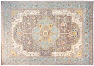 F.J. Kashanian 10'x14' Heriz Rug - Gray/Aqua
