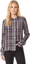 Jenni Kayne Plaid Ruffle Button Up