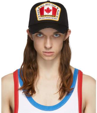 DSQUARED2 Black Canada Patch Cap