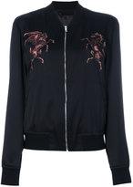 Alexander McQueen embroidered bomber jacket - men - Silk/Viscose - 50