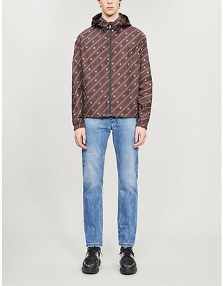 Fendi Karligraphy drawstring-hood reversible shell jacket