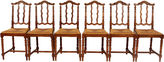 One Kings Lane Vintage French Baroque-Style Dining Chairs, S/6