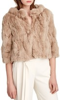 Halston Cropped Fur Coat