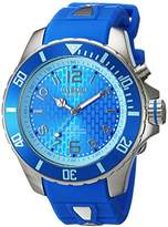 KYBOE! 'Power' Quartz Stainless Steel and Silicone Casual Watch, Color:Blue (Model: KY.48-035.15)