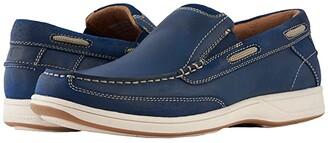 Florsheim Lakeside Slip (Indigo Smooth/Suede) Men's Slip on Shoes
