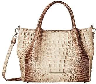Brahmin Small Mallory Satchel (Latte) Satchel Handbags