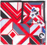 Fendi printed scarf - women - Silk/Cotton - One Size