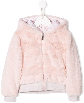 Lapin House Hooded Faux Fur Jacket