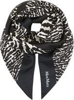 Max Mara Heart print silk scarf