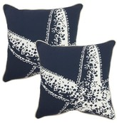 "Threshold 2-Piece 18"" Toss Pillow Set - Navy Starfish"