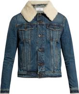 Ami Shearling-collar denim jacket