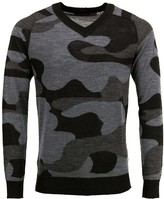 Lords Of Harlech Vincent V-Neck Sweater In Woolcamo Charcoal