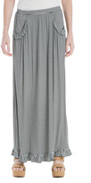 Max Studio Ruffle-Trim Striped Maxi Skirt