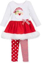 Bonnie Baby Baby Girls' 2-Pc. Santa Tunic & Leggings Set
