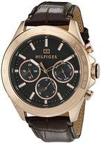 Tommy Hilfiger Men's 1791225 Hudson Analog Display Japanese Quartz Brown Watch
