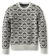 Classic Men's Lambswool Snowflake Crewneck Sweater-Modern Stewart Dress Tartan