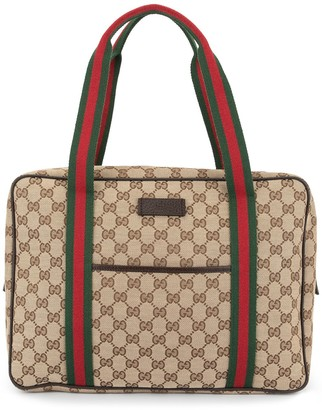 Gucci Pre Owned Shelly Line GG pattern hand bag