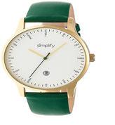 Simplify Unisex Green Strap Watch-Sim4305