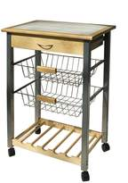 Organize It All Providence Kitchen Cart with Baskets