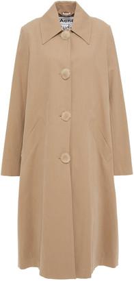 Acne Studios Faux Fur-trimmed Cotton-twill Coat