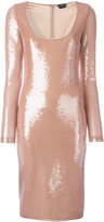 Tom Ford sequinned fitted dress - women - Silk/Polyamide/Spandex/Elastane/PVC - 38
