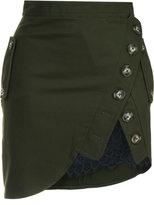 Self-Portrait Utility mini skirt - women - Spandex/Elastane/cotton - 10