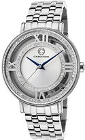Cabochon Women's 'Carnaval' Quartz Stainless Steel Casual Watch (Model 80288-02S)