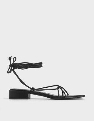 Charles & Keith Strappy Ankle Tie Sandals