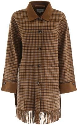 Nanushka Fringed Marzy Coat