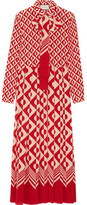 Gucci Printed Silk Crepe De Chine Midi Dress - Brick