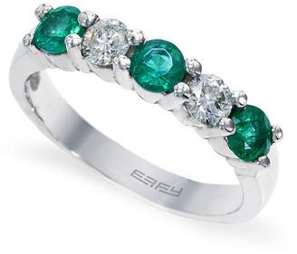 Effy Fine Jewelry 14K 0.95 Ct. Tw. Diamond & Emerald Ring